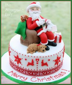 He's checking it twice... - by SugarpasteFairy @ CakesDecor.com - cake decorating website