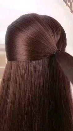 Hairdo For Long Hair, Bun Hairstyles For Long Hair, Braided Hairstyles, Hair Up Styles, Hair Brained, Hair Videos, Gorgeous Hair, Hair Hacks, Hair Makeup