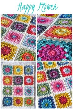Annie's Place: Happy Flower Block Tutorial #Free Crochet Pattern