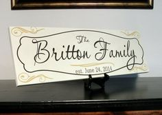 Custom Family Name Sign Personalized Engraved by CustomSignworks