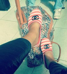 Chanel slippers