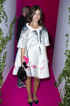 Style...Miroslava Duma // Flamingo printed coat
