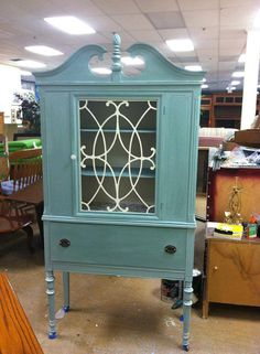Depression Era China Cabinet by marymcviewilliamson on Etsy, $225.00 in love!!!