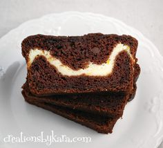 Chocolate Zucchini Bread with Cream Cheese Filling