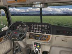 Peterbilt 386, Peterbilt Trucks, Semi Trucks, Big Trucks, Inside Car, Cement Mixers, Truck Interior, Truck Design, Motor Company