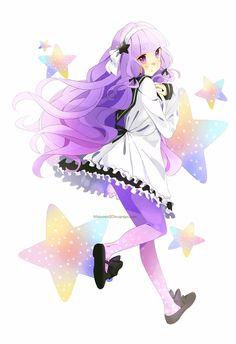 cute,kawaii,girl,chibi Cute Anime Chibi, Kawaii Chibi, Kawaii Anime, Beautiful Moon, Beautiful Anime Girl, Manga Anime, Anime Art, Manga Art, Anime Purple Hair