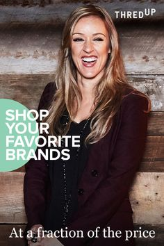 """""""The interesting part about shopping secondhand is that it is influencing my habits and it goes beyond fashion and shopping. It changes the way I think about money and value, but the biggest win is the time that I can instead spend on family & friends."""" – Claris T, happy thredUP shopper. Log in and shop #secondhandfirst."""