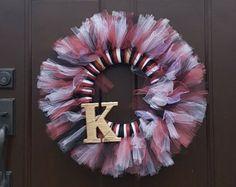 Breezy Tulle Wreath by CustomFancies on Etsy