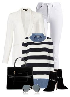 """""""Winter White & Stripes"""" by littlefeather1 ❤ liked on Polyvore featuring Barbour International, Theory, Dorothy Perkins, Emilio Pucci, Marc Jacobs, Givenchy, polyvoreeditorial and outfitsonly"""