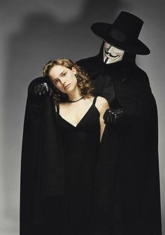 "Natalie Portman & Hugo Weaving - ""V for Vendetta"" Directed by James McTeigue V For Vendetta Poster, V For Vendetta 2005, V For Vendetta Movie, V For Vendetta Evey, V For Vendetta Costume, Hugo Weaving, V Comme Vendetta, V Pour Vendetta, George Clooney"
