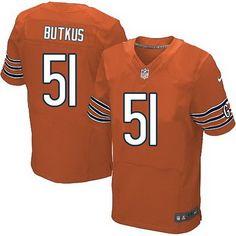 Chicago Bears #51 Dick Butkus Orange Retired Player NFL Elite Jersey