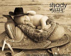 Cowboy/cowgirl baby photo idea