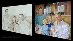 Arcemeaux Family Portrait Progression