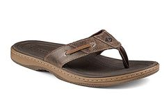 Mens Baitfish Flip-Flops - Brown