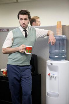 It's Always Sunny in Philadelphia – Sweet Dee has a Heart Attack. Mac at the Watercooler