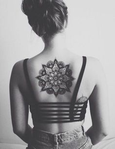 Mandala Back Tattoo for Girl - 30  Intricate Mandala Tattoo Designs