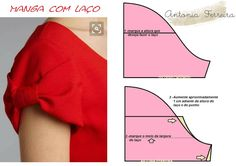 Modelagem por Antonia: MANGA COM LAÇO