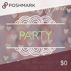 I'm hosting my first party! I am so excited to be able to host on November 4 for the 7:00 pm party. Theme and cohosts are yet to be announced. I'll be looking for rule-compliant closets and great cover photos! If you are interested in hosting future Posh parties, see the Poshmark blog for more information. Accessories