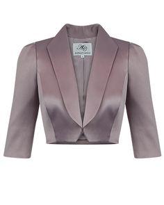 Allure Shawl Collar Luxe Satin Bolero 4713bac9cfe