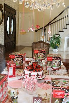 Candy House Decorations Birthday Party Ideas Christmas Houses