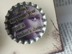 "♥by bRYN   bottlecap magnets ""with a twist""♥"