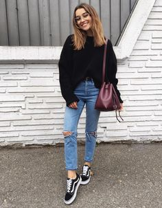 Street style outfit • vans old school