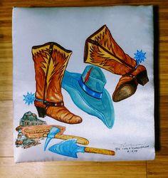 Western - Custom Album Art in Silk Nature Animals, Westerns, Sunshine, Album, Fine Art, Silk, Painting, Inspiration, Biblical Inspiration