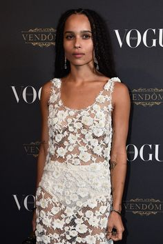 Zoë Kravitz at Vogue's 95th anniversary party, Paris