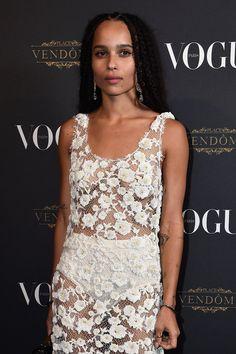 Zoë Kravitz at Vogue's 95th anniversary party, Paris