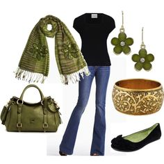 """Green with Envy"" by pjm27 on Polyvore"