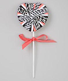 Look what I found on #zulily! Pink Zebra Hair Tie Set & Lollipop Holder by Capelli New York #zulilyfinds