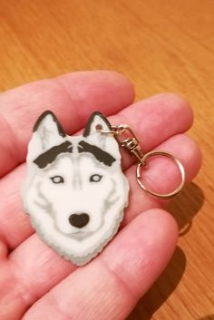 Custom 3D Printed Husky Dog Keychain. We can label the keyring with personal text on the backside. What more fascinating could you present for a dog owner than a unique animal keychain. These 3D keychains are created with 3D printing so you can take advantage of the technology. #husky #doggift #3dprintedgift #custom3dprinting #customgift #personalized3dgift #personalisedproduct #3dprint #customkeychain Custom 3d Printing, Customized Gifts, Personalized Items, Dog Keychain, Husky Dog, Kinds Of Dogs, Unique Animals, 3d Prints, Dog Gifts