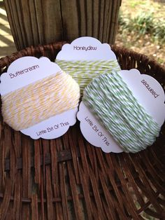 The Twinery  15 Yards Each Color  Buttercream / by erkline5898, $7.99