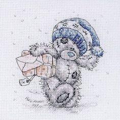 Schema punto croce Pacco Di Natale 1
