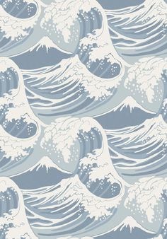 Cole and Son Frontier Great Wave wallpaper