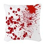 So Much Blood Woven Throw Pillow