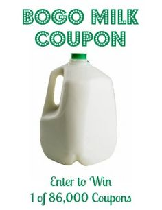 Learn how to get a BOGO coupon for a gallon of milk!  #milk #coupons #savingmoney