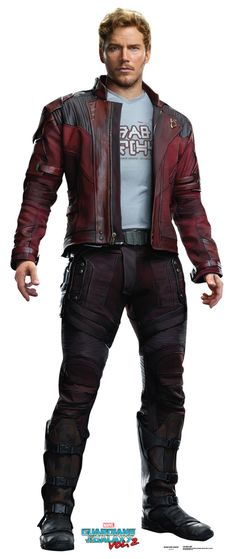 """STAR-LORD / PETER QUILL Cardboard Cutout Standup / Standee from """"Guardians of the Galaxy Vol 2 (2017)"""" 