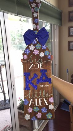 So proud of this paddle! my crafting work is done. Yay Kappa Delta yay sororities yay big little crafting :)