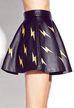 lightning bolt skirt