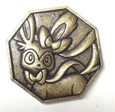 Pokemon 2014 Metal Collection XY#1 Sylveon Coin (Bronze Version)