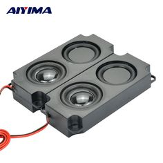 [ 11% Off ] 2Pcs Audio Speakers 10045 LED TV Speaker 8Ohm 5W Double diaphragm Speaker Bass 10045