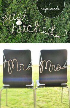 Decor - reception - MR & MRS Rope words 16 Budget-Friendly DIY Wedding Ideas
