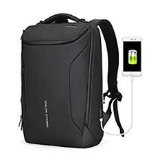 Best Seller Water-proof Backpack Markryden large-capacity Modern rucksack Business Bags men USB Charging Port School Travel hiking Work Pack Fits Inch Laptopop (Black (New)) online - Topbrandshits Waterproof Laptop Backpack, Laptop Rucksack, Laptop Bags, Usb, Ipad, Anti Theft Backpack, Business Laptop, Backpack Reviews, Cool Backpacks