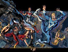 SIGNED FRANK CHO REAL HEROES #1 COV ER B VARIANT IMAGE COMICS BRYAN HITCH 1ST PR