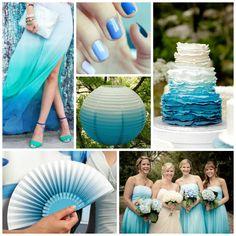Blue Ombre Wedding