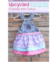 Have a pair of old and holey little overalls that you don't know what to do with? Upcycle them with this overall dress tutorial. Jeans Overall, Overall Dress, Outfits Niños, Kids Outfits, Tomboy Outfits, Dress Tutorials, Sewing Tutorials, Sewing Tips, Sewing For Kids