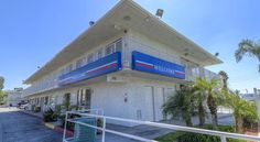 Motel 6 San Bernardino South San Bernardino This San Bernardino South motel is 2.2 miles from the Orange Pavilion. The motel features an outdoor pool and every air conditioned room includes cable TV.  Guests can make free local telephone calls in all rooms at the Motel 6 San Bernardino South.