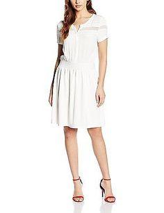 14, Écru (0333 Écru), Naf Naf Women's Pruna Dress NEW