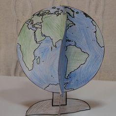 földgömb papírból Nap, Earth Day, Environmental Education, Geography, Creative